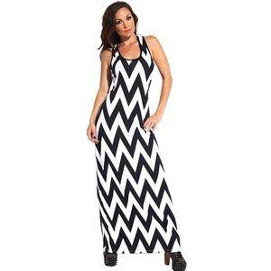 Chevron Maxi Dress Large